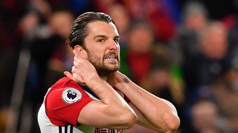 Jay Rodriguez had a penalty shout waved away and missed a good chance after coming on against Chelsea