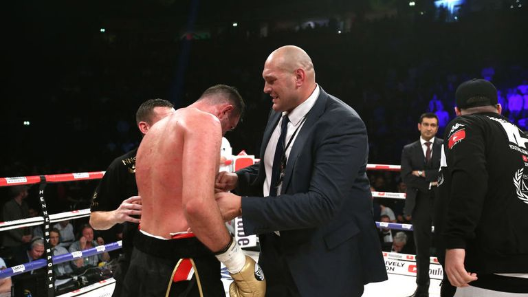 Tyson Fury raged at his cousin Hughie's loss to Parker