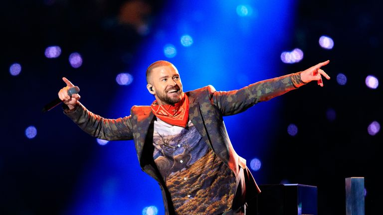 Justin Timberlake performed at last year's Super Bowl LII in Minnesota