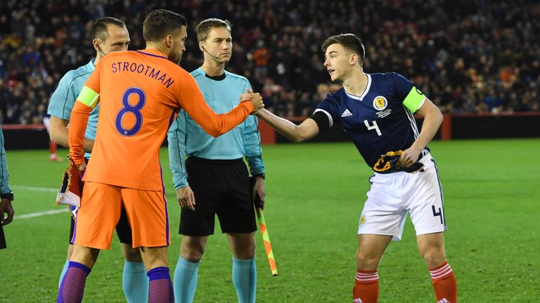 Tierney captained Scotland in their last friendly against the Netherlands