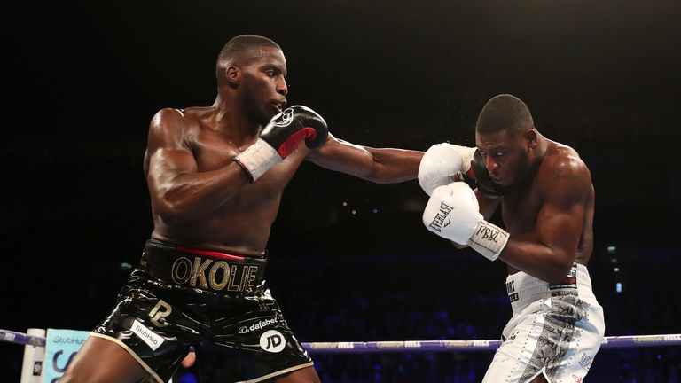 Lawrence Okolie completed a unanimous points victory over Isaac Chamberlain