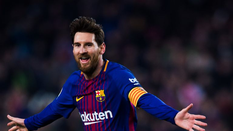 Lionel Messi scored a superb free-kick underneath the Girona wall to make it 3-1