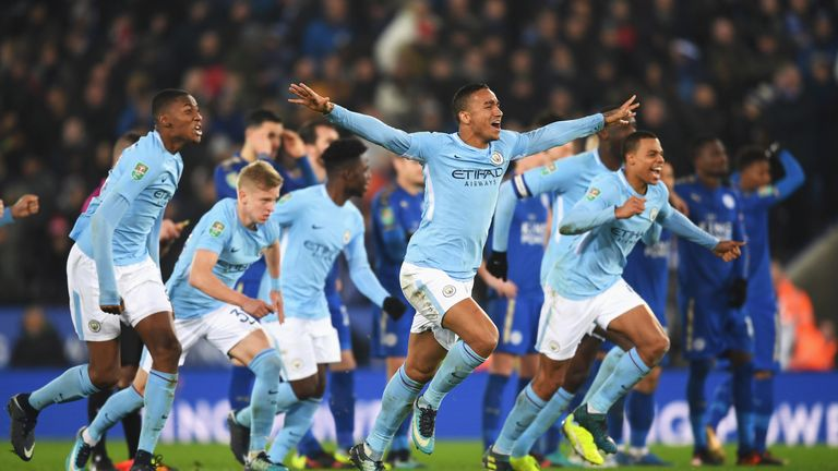 Manchester City needed a penalty shoot-out to see off Leicester