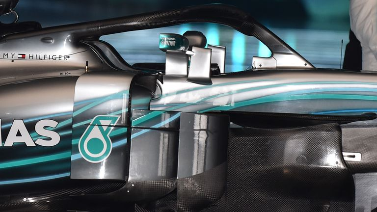 A close-up look at the Mercedes W09