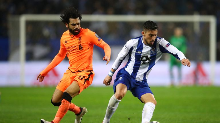 Mo Salah scored in Liverpool's 5-0 rout of Porto