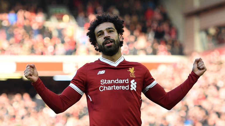 Mohamed Salah has scored 32 goals in all competitions for Liverpool