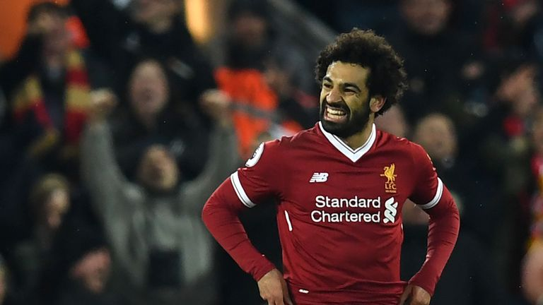 Mohamed Salah scored twice for Liverpool against Tottenham