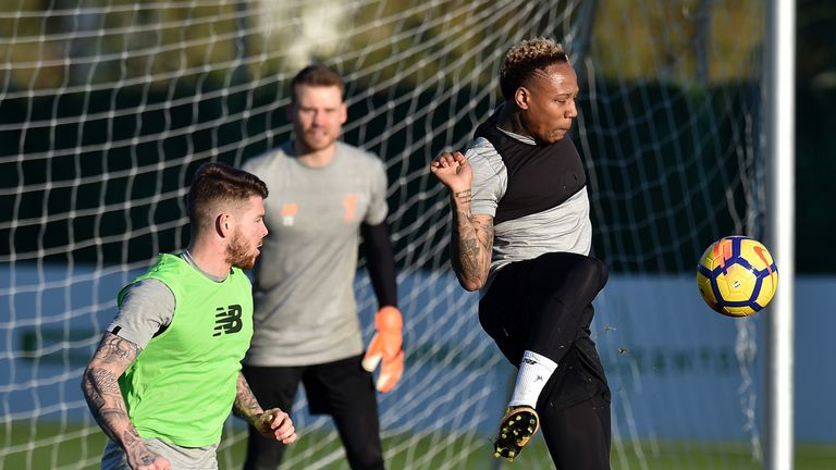 Clyne took part in a full session during Liverpool's four-day training camp in Marbella