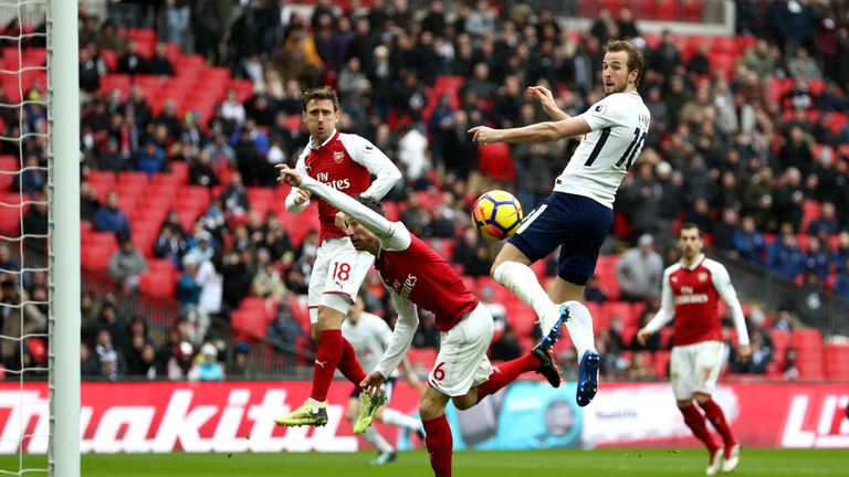 Harry Kane puts Tottenham ahead in the north London derby