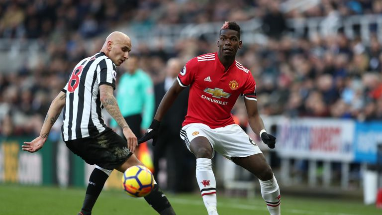 Manchester United midfielder Paul Pogba earned €22.2m from all revenue streams in 2017
