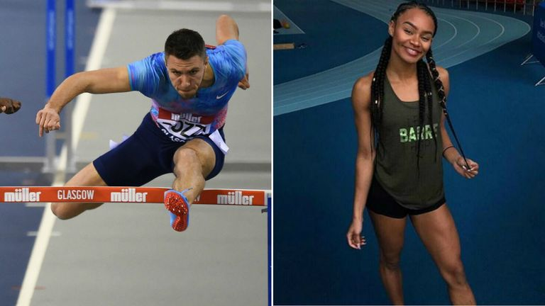 Andrew Pozzi and Imani Lansiquot were in action in Scotland at the weekend
