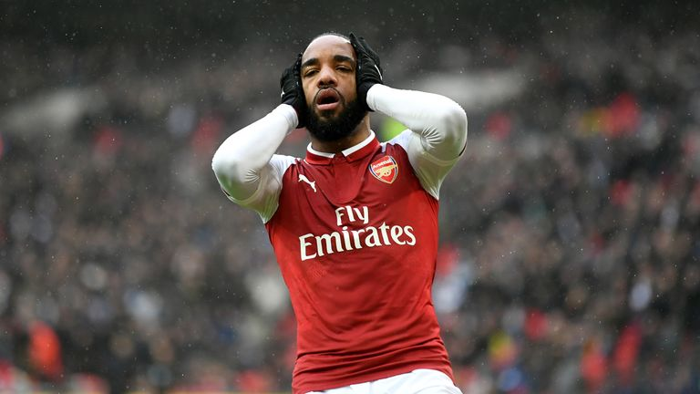 Alexandre Lacazette is Arsenal's top scorer in all competitions with nine goals