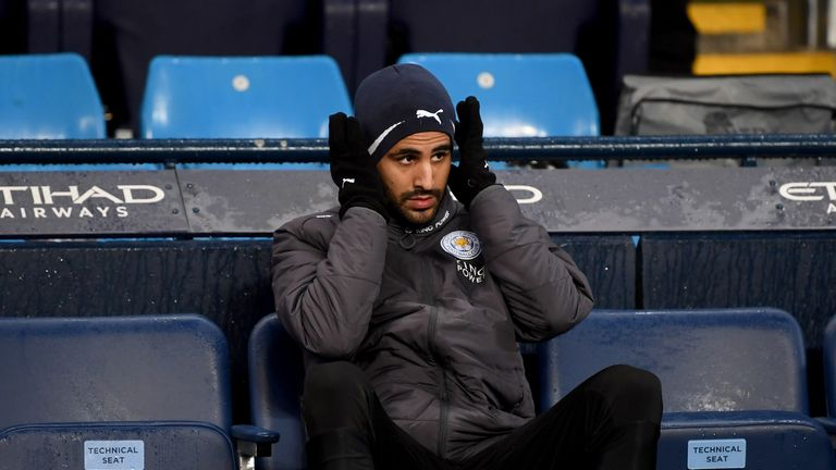 Riyad Mahrez was a second-half substitute for Leicester