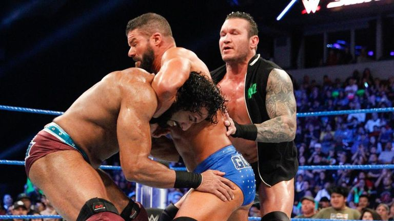 Randy Orton and Jinder Mahal came out to challenge United States champion Bobby Roode