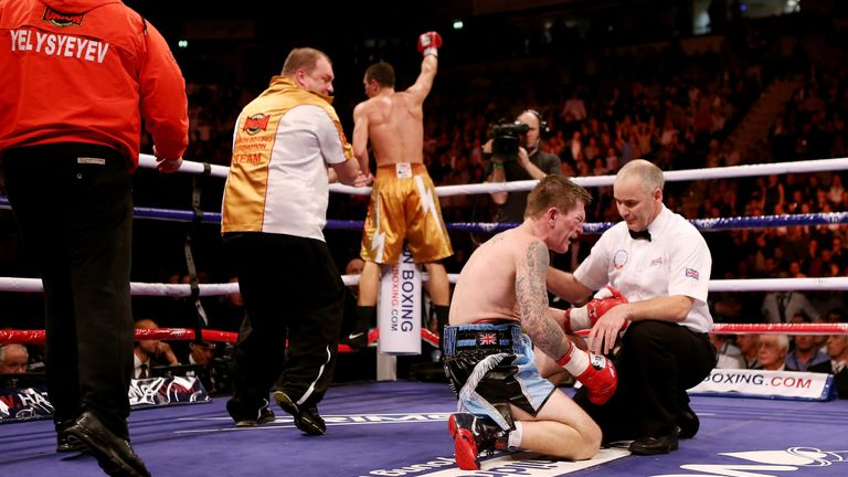 Ricky Hatton was beaten on his return to boxing in 2012