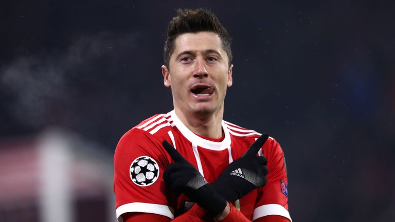 Robert Lewandowski has five goals in seven Champions League games this season