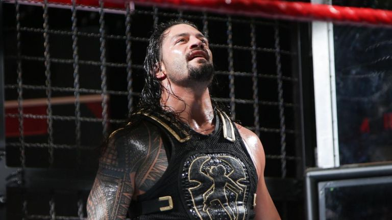 Reigns earned his Universal title shot by winning the Elimination Chamber
