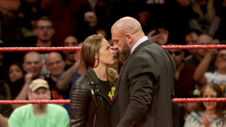 Rousey will team up with Kurt Angle to face Stephanie McMahon and Triple H at WrestleMania