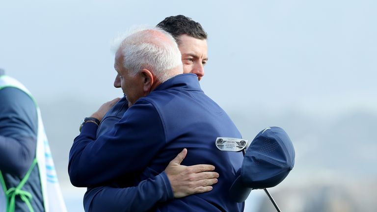 McIlroy played alongside his father Gerry in California