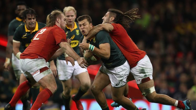 Wales were 24-22 winners over South Africa in Cardiff last December