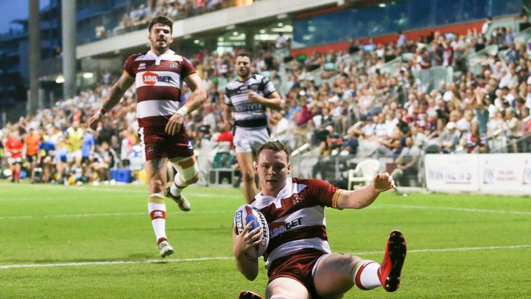 Liam Marshall scored two tries in eight first-half minutes