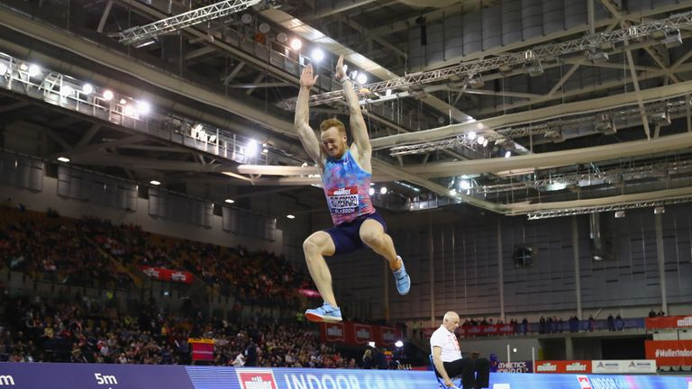 Rutherford's leap of  7.89m secured fourth in Glasgow