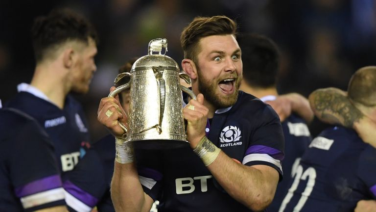 Ryan Wilson has been cited for alleged  gouging win Scotland's in over England