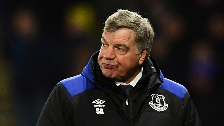 Sam Allardyce is under pressure at Everton