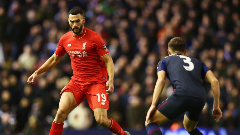 Caulker in action for Liverpool