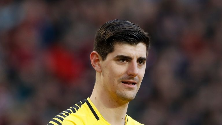 Thibaut Courtois' Chelsea contract expires at the end of next season