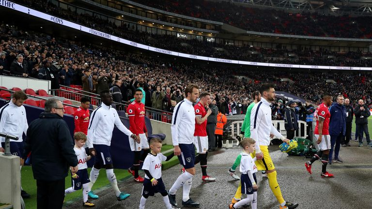 Spurs beat Man Utd on Wednesday in front of a record Premier League crowd