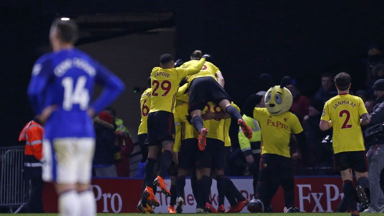 Watford are up to 10th after beating Everton