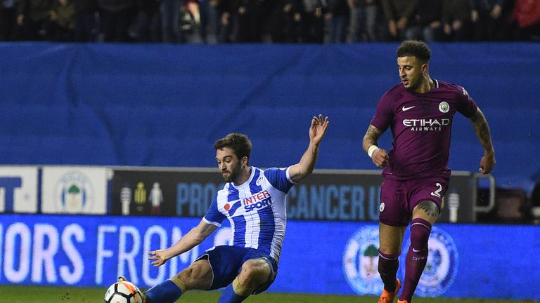 Will Grigg scored the winning goal against Man City in the last round