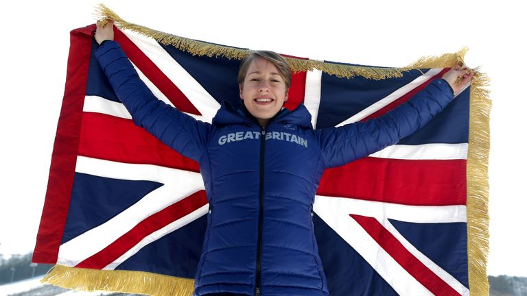 Lizzy Yarnold is aiming to defend her Olympic skeleton title