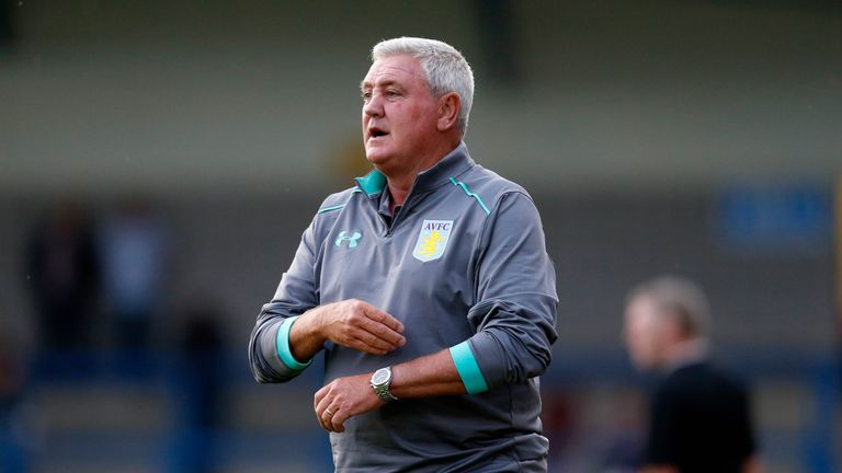 Steve Bruce has guided Aston Villa to fourth in the Championship table