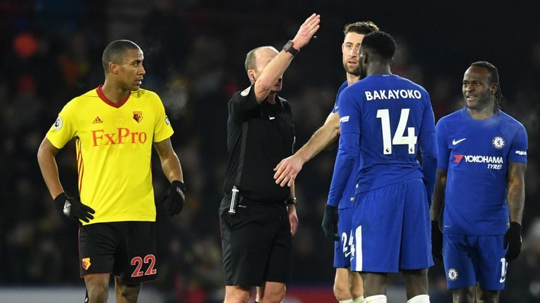 Tiemoue Bakayoko endured a miserable 30 minutes against Watford