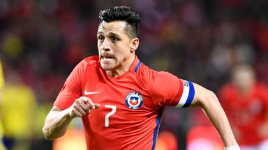 Alexis Sanchez has been omitted from Chile's squad by Reinaldo Rueda