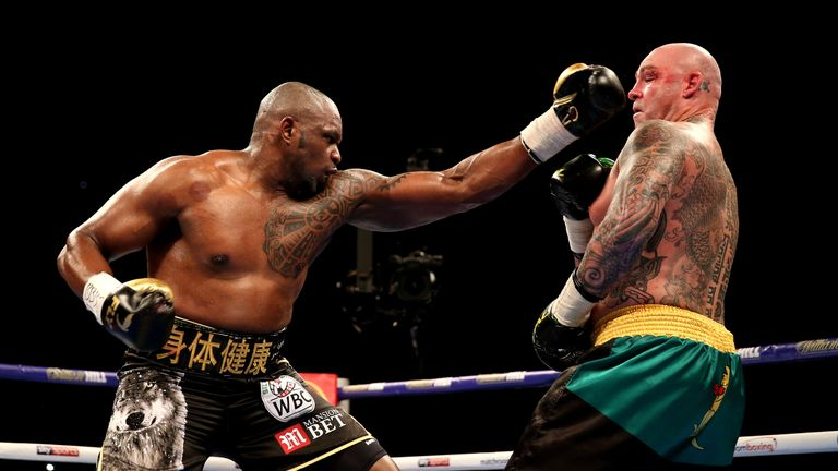 Whyte's left took care of Browne in his last outing