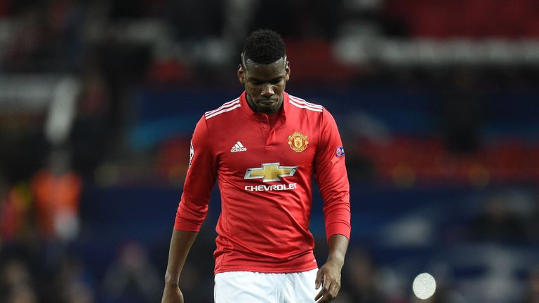 Paul Pogba has been left out of the starting XI for United's last three games