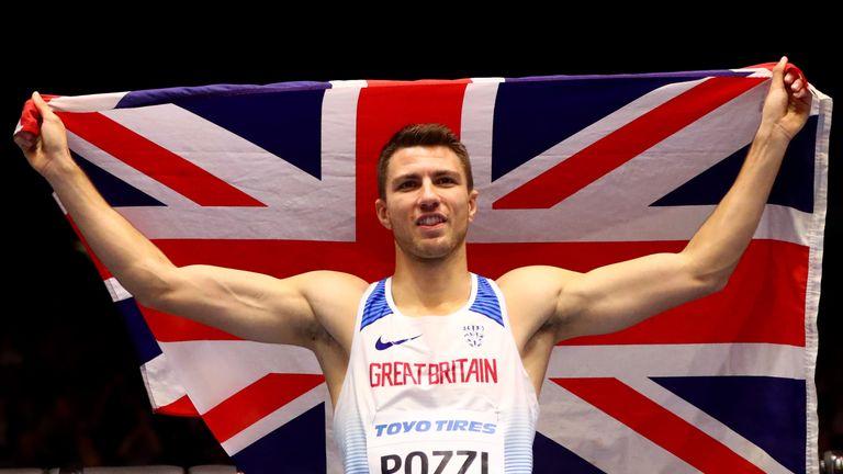 Andrew Pozzi had to wait after the race before finding out he was world champion