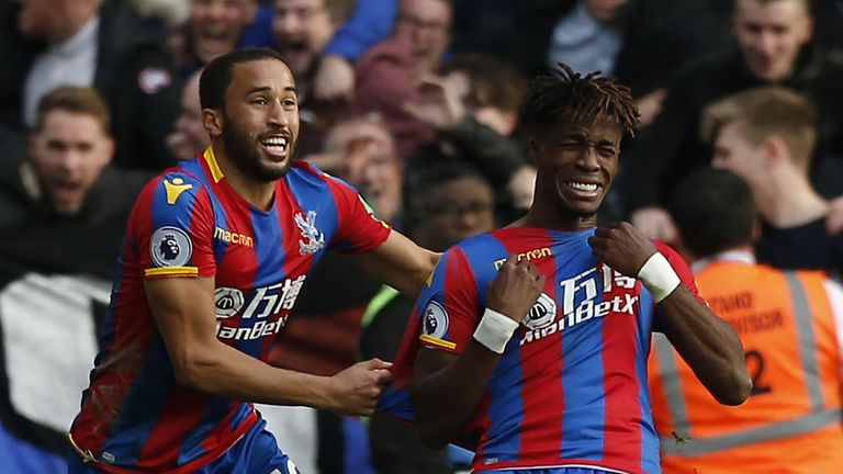 Andros Townsend (left) and Crystal Palace teammate Wilfired Zaha