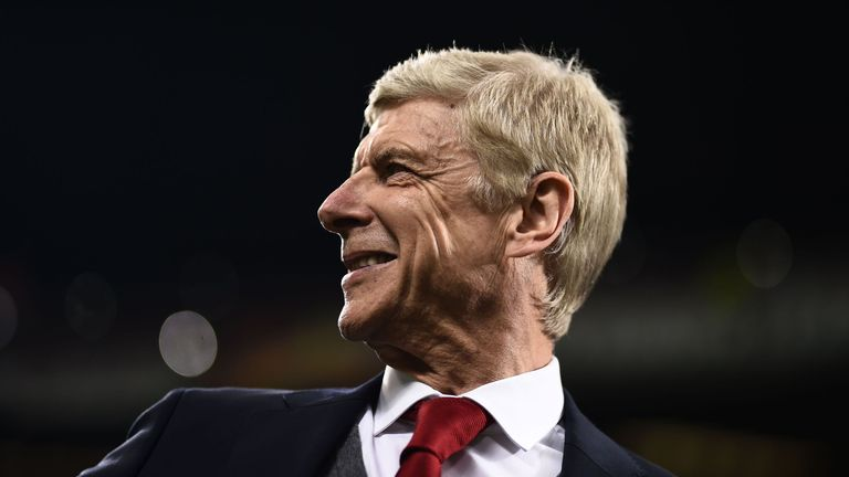 Arsene Wenger was all smiles as Arsenal's four-game losing run came to an end in emphatic style
