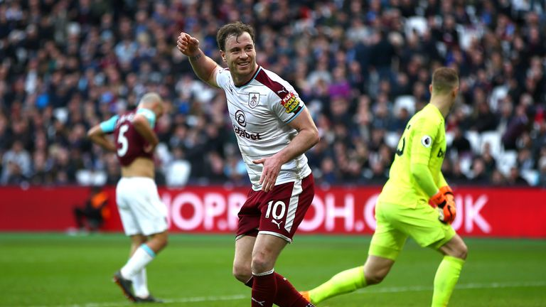 Barnes has scored seven goals for the Clarets this season