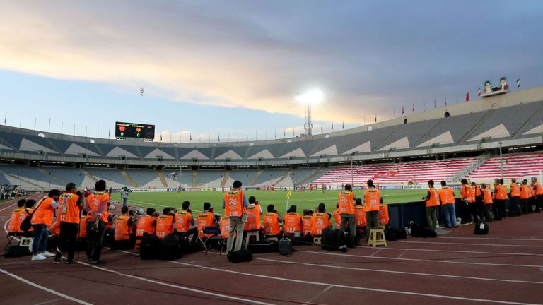 The women tried to attend a match at the Azadi Stadium