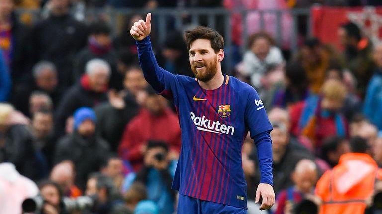 Messi scored the winning free-kick for Barcelona