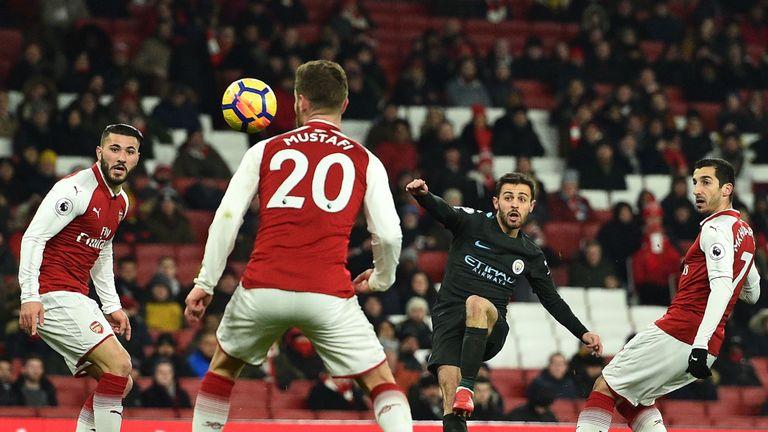 Manchester City beat Arsenal 3-0 at the Emirates last season