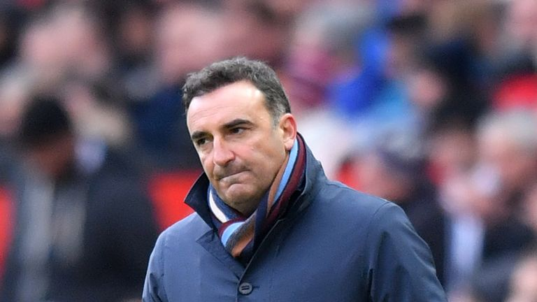 Carlos Carvalhal took charge of Swansea in December
