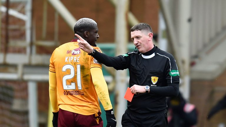 Cedric Kipre had his red card rescinded and will be available for Motherwell
