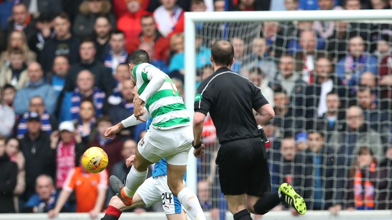 Tom Rogic finds the bottom corner with an accurate shot after 11 minutes