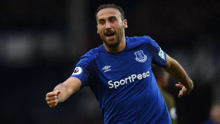 Cenk Tosun has scored four goals in three games for Everton
